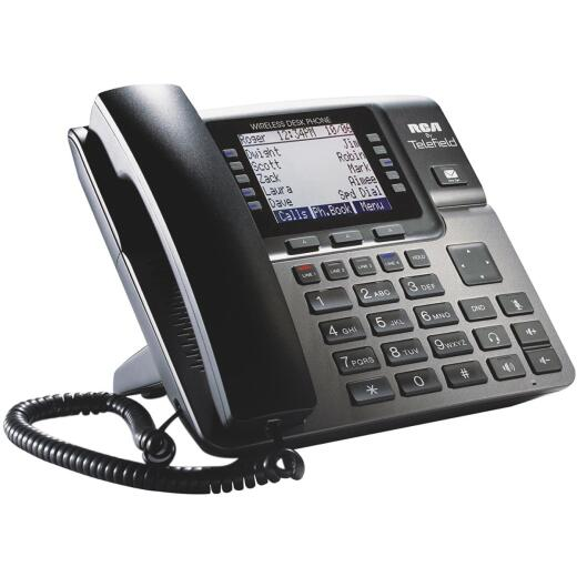 RCA Unison 1-Handset 4-Line Black Corded Expandable Telephone System