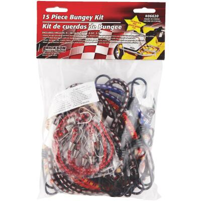Erickson Vinyl Coated Wire Bungee Cord Set (15-Piece)