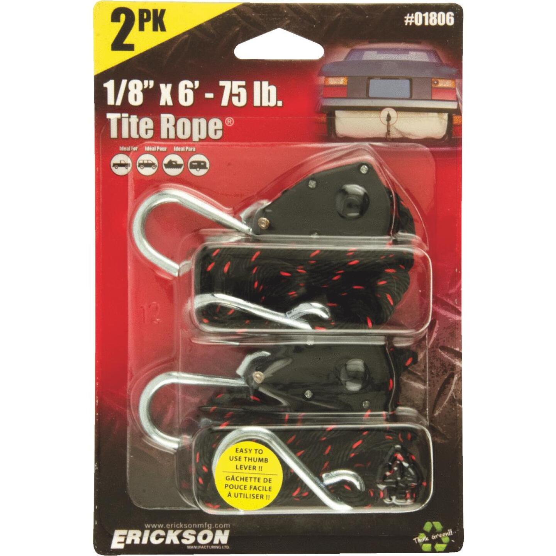 "Erickson Tite Rope 1/8"" x 6' 75 Lb. Capacity Rope Ratchet (2-Pack) Image 1"