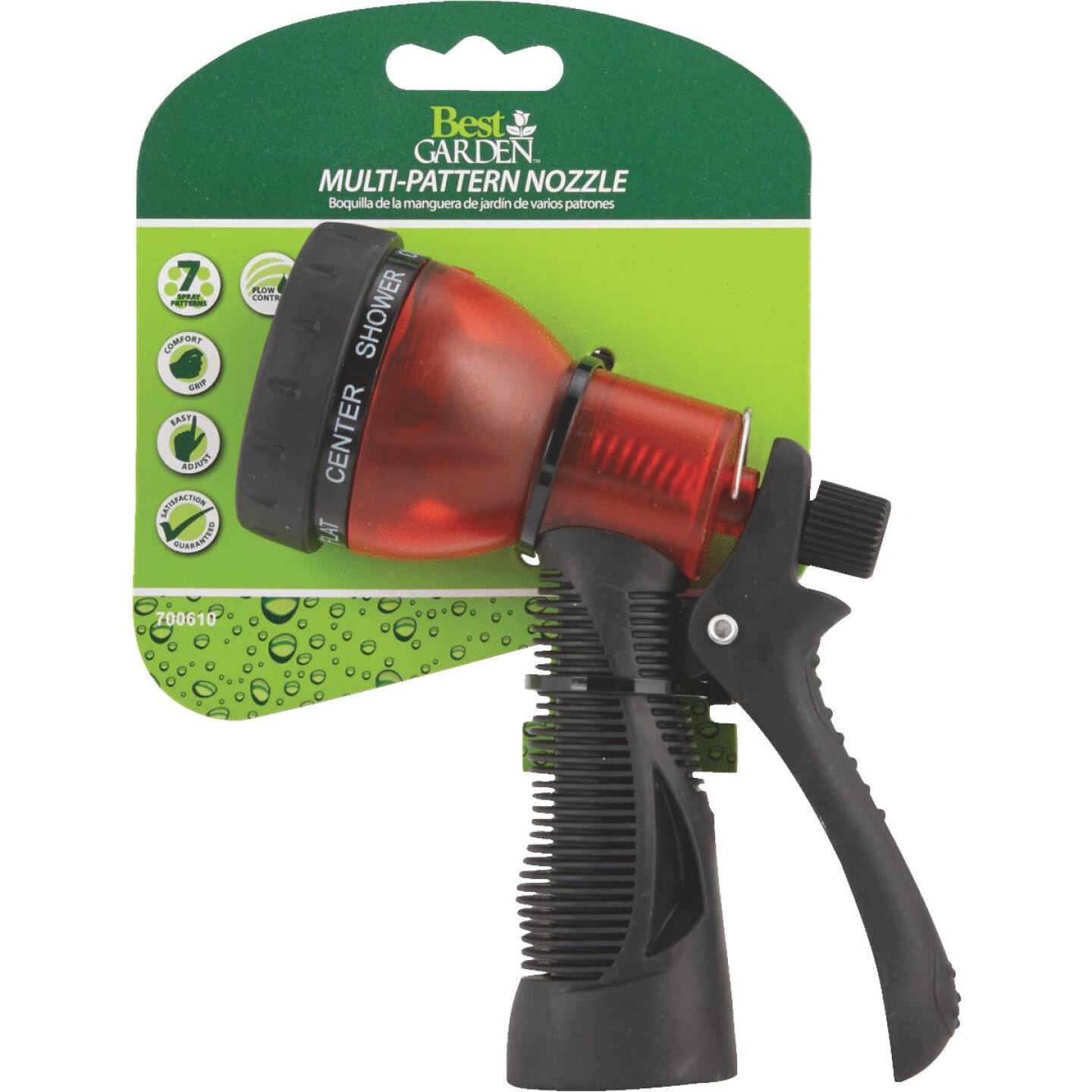 Best Garden Poly Translucent 7-Pattern Nozzle, Assorted Colors Image 4
