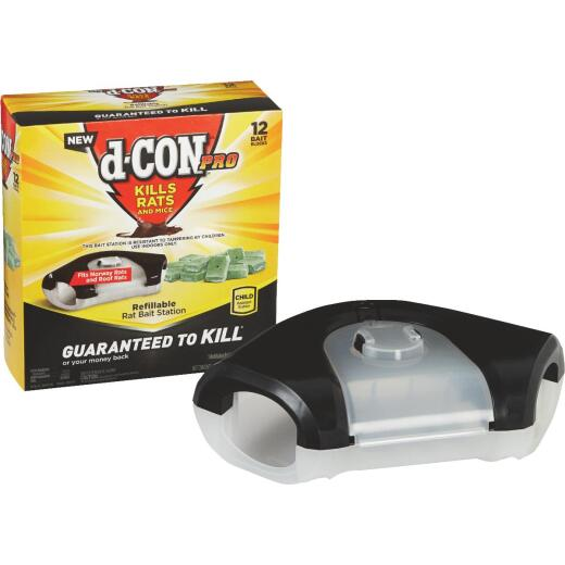 D-Con Refillable Rat Bait Station (12-Refill)