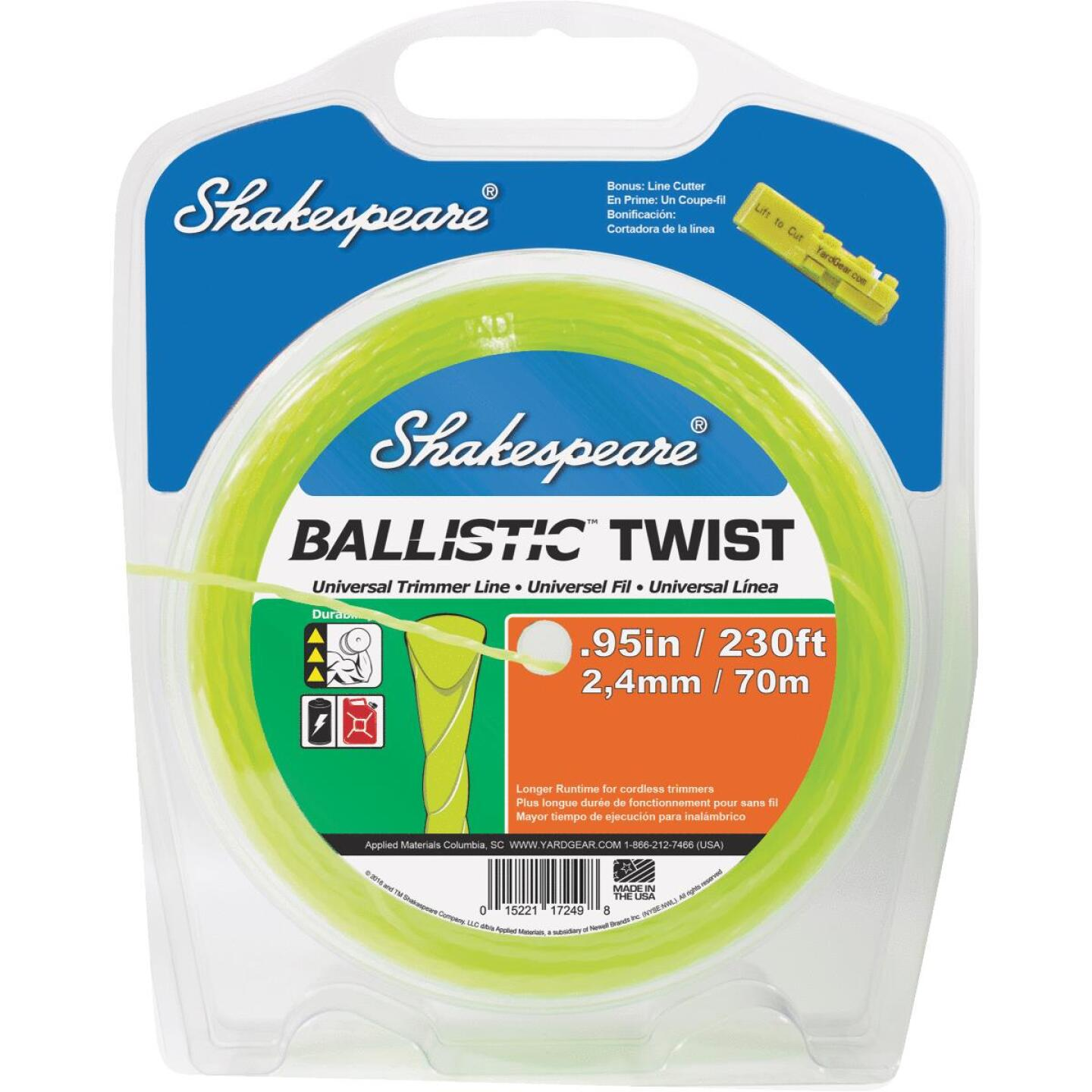 Shakespeare 0.095 In. x 230 Ft. Ballistic Twist Universal Trimmer Line Image 1