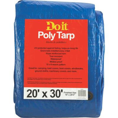 Do it Blue Woven 20 Ft. x 30 Ft. Medium Duty Poly Tarp