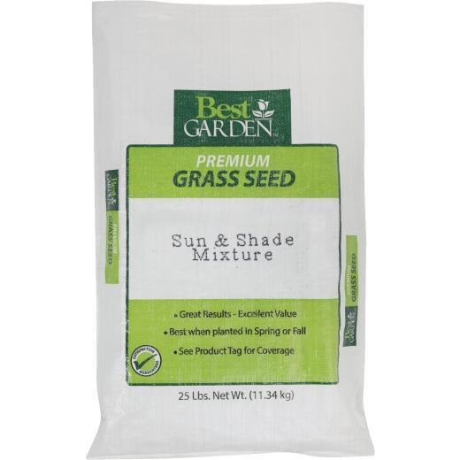Best Garden 25 Lb. 6250 Sq. Ft. Coverage Sun & Shade Grass Seed