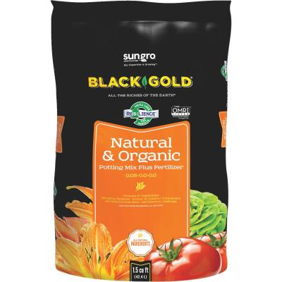 Black Gold 1.5 Cu. Ft. 38 Lb. All Purpose Natural & Organic Potting Soil