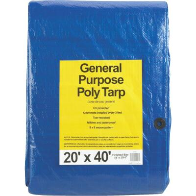 Do it Blue Woven 20 Ft. x 40 Ft. General Purpose Tarp